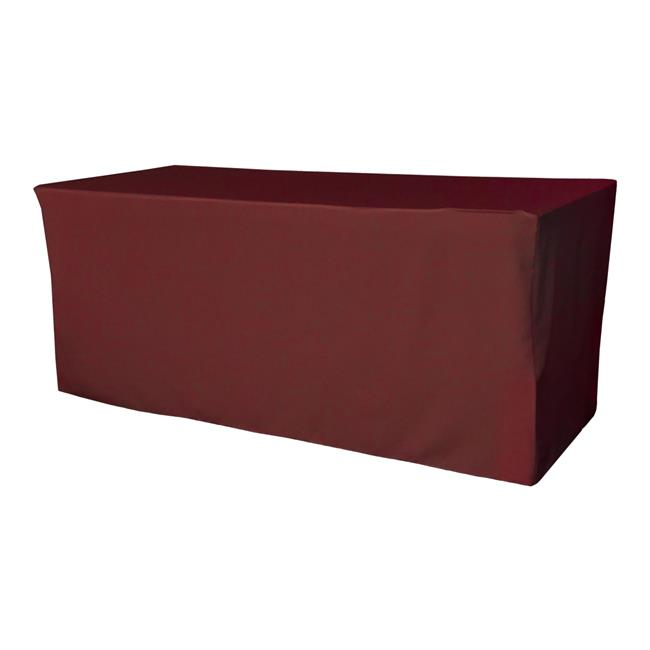 LA Linen TCpop-fit-96x30x30-BurgundyP17 2.77 lbs Polyester Poplin Fitted Tablecloth, Burgundy - image 1 of 1