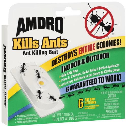 AMDRO Ant Killing Bait Stations, 6ct