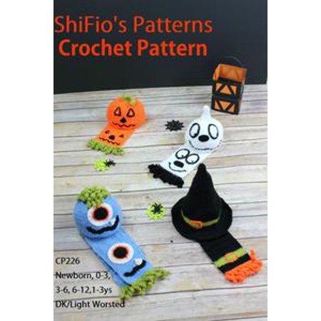 Halloween Hats Scarfs Crochet Pattern 226 Ebook Walmartcom