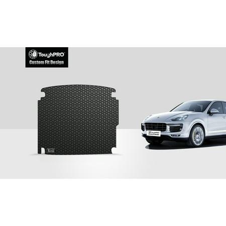 ToughPRO - PORSCHE Cayenne Cargo Mat - All Weather - Heavy Duty - Black Rubber - (Porsche Cayenne Rubber)