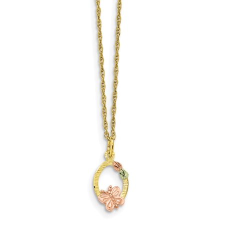 7d2327196e37d S M Diamond Corp - 10k Tri-Color Black Hills Gold Butterfly Necklace ...
