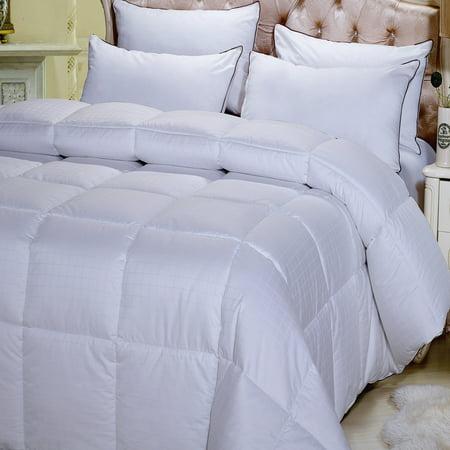 Dobby White Down Alternative Comforter Ultra Warm Winter Weight 300TC