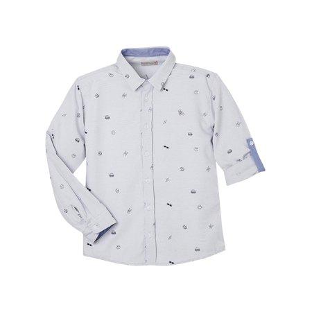 OFFCORSS Long Sleeve Button Down Shirts For Kids | Camisa De Vestir Para Niños (Camison Para Halloween)