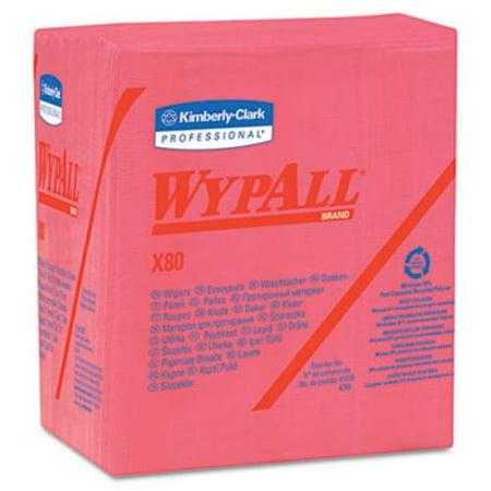 Wypall X80 Hydroknit 1/4 Fold Wipers - Wipe - 12.50