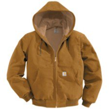 Carhartt Men's Thermal Lined Duck Active Jacket J131,Brown,Medium (Carhartt Ski Jacket)