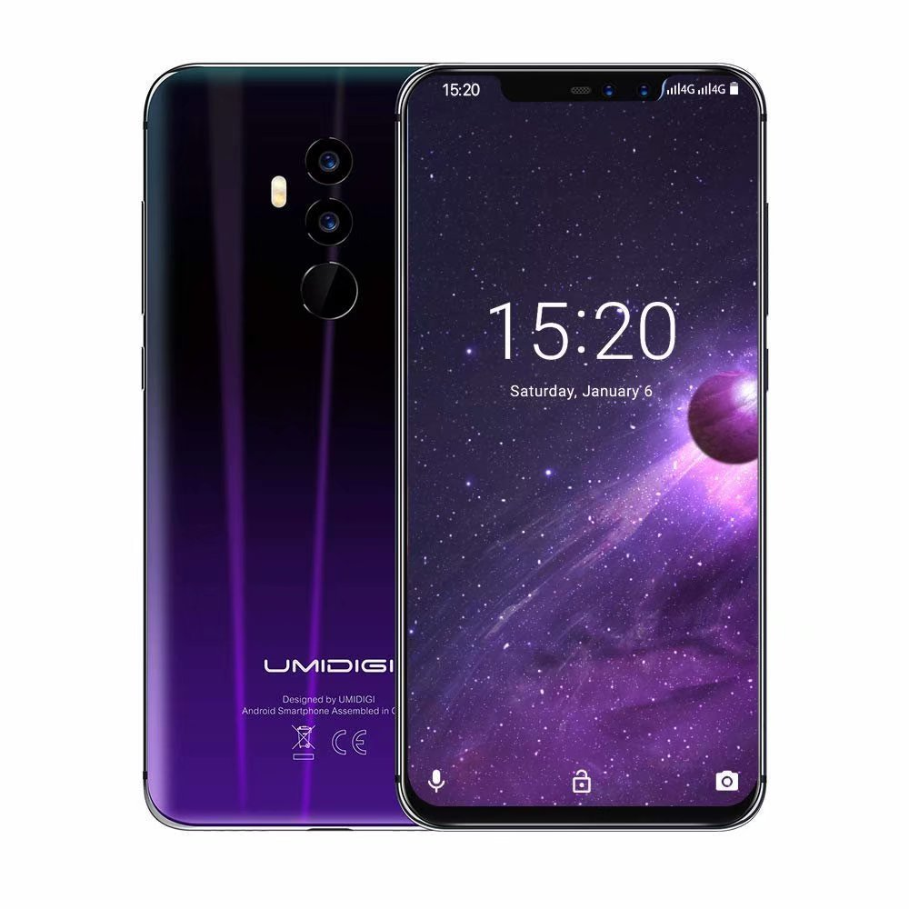"No Contract Unlocked Smartphone ,UMIDIGI Z2 Global Edition 4G Mobile Phone,Unlocked Cell Phones 6GB Memory 64GB ROM 6.2"" FHD + Full Screen, Four Lens Face ID"