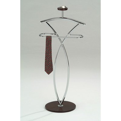 Wood Valet - InRoom Designs Wood and Metal Suit Valet Stand