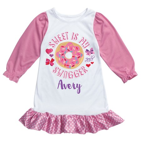 Personalized Girls Nightgown - Personalized Pink Nightgown - JoJo Siwa Sweet is My Swagger