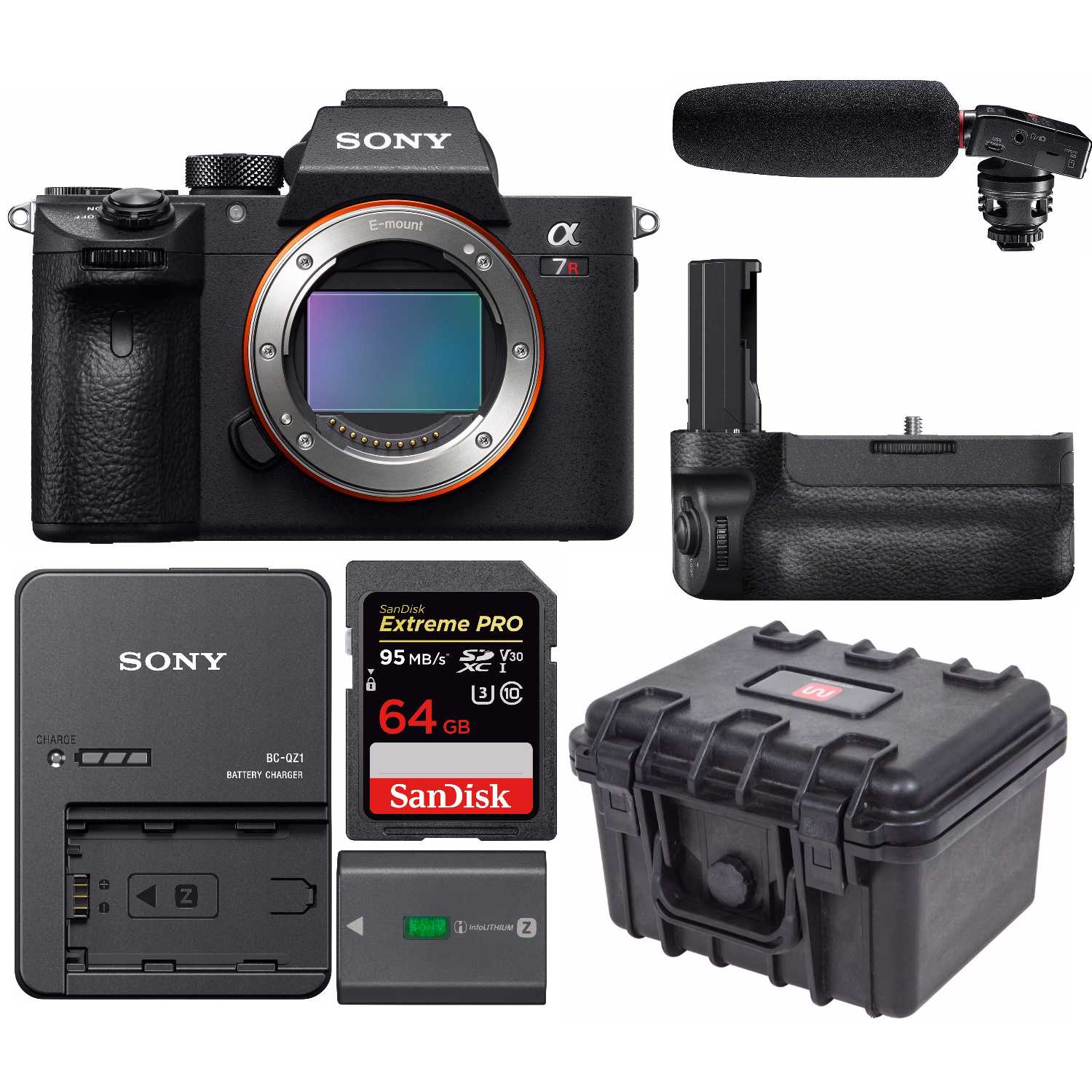 Sony A7riii Mirrorless Interchangeable Lens Camera W Tascam Dr 10sg Bc Qz1 Battery Charger
