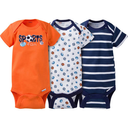 Newborn Baby Boy Onesies Bodysuits Assorted, 3-Pack