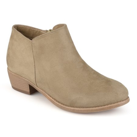 Women's Wide Width Heeled Faux Suede Booties (Nine West Booties Suede)
