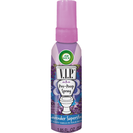 (2 pack) Air Wick V.I.P. Pre-Poop Spray, Lavender Superstar, - Lavender Pure Spray
