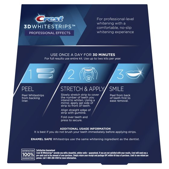 Crest 3D Whitestrips Professional Effects Teeth Whitening Strips Kit, 20  Treatments