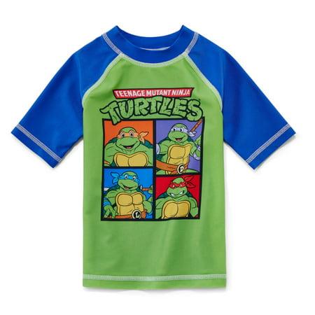 2632f011a2 Nickelodeon - Nickelodeon Toddler Boys Teenage Mutant Ninja Turtles Rash  Guard Swim Shirt 4T - Walmart.com