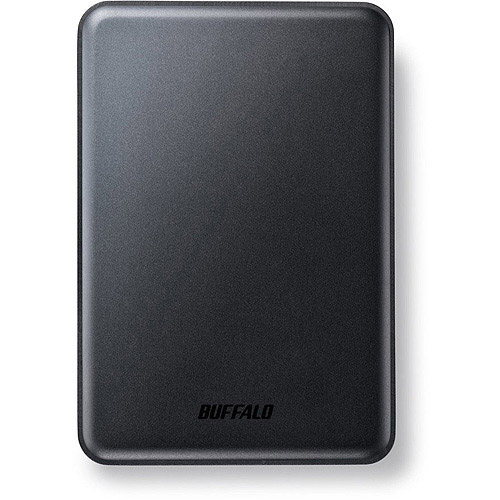 Buffalo Technology MiniStation Slim 500GB Portable Hard Drive, Black