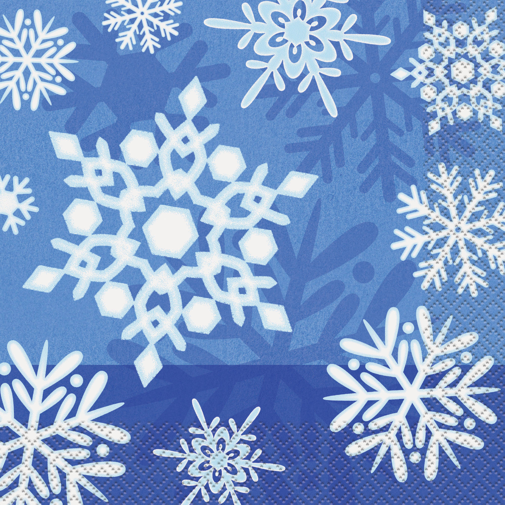 Winter Snowflake Holiday Luncheon Napkins, 16-Count
