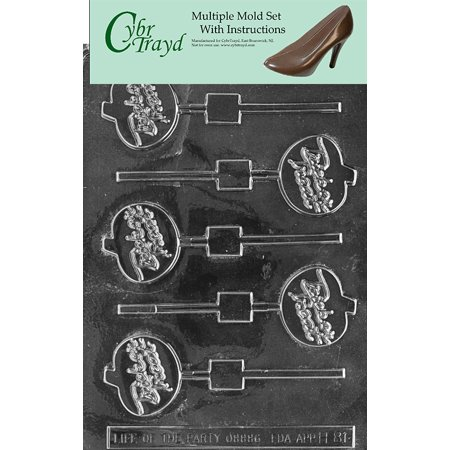 Trick Or Treat Pumpkin Halloween Chocolate Candy Mold with Exclusive Cybrtrayd Copyrighted Molding Instructions, Pack of 3](Trick Or Treat Pumpkins)