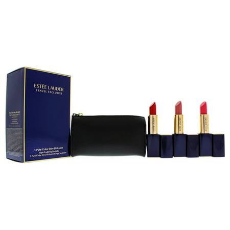 3 Pure Color Envy Hi-lustre Lipsticks Set By Estee Lauder For Women - 4 Pc 3 X 0.12oz Light Sculptin