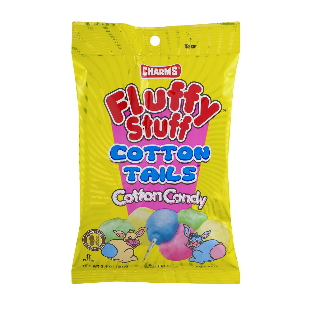 Charms Fluffy Stuff Cotton Tails Cotton Candy, 2.1 OZ