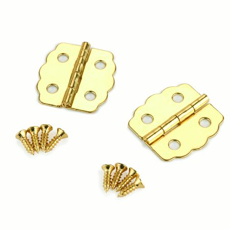 Small Box Brass Plated Hinge 23mm x 22 mm pair Brass Small Box