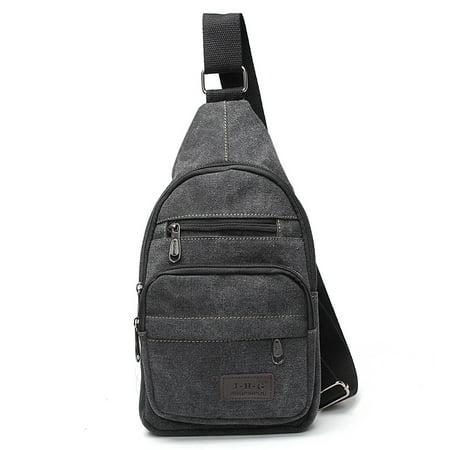 Fashion Men Military Canvas Messenger Shoulder Sling Backpack Chest Bags School Bag