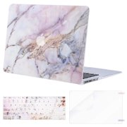 """Mosiso MacBook Air 13 Inch Case (A1369 & A1466, Older Version 2010-2017 Release), Plastic Hard Case & Keyboard Cover & Screen Protector for MacBook Air 13"""", Colorful Marble"""