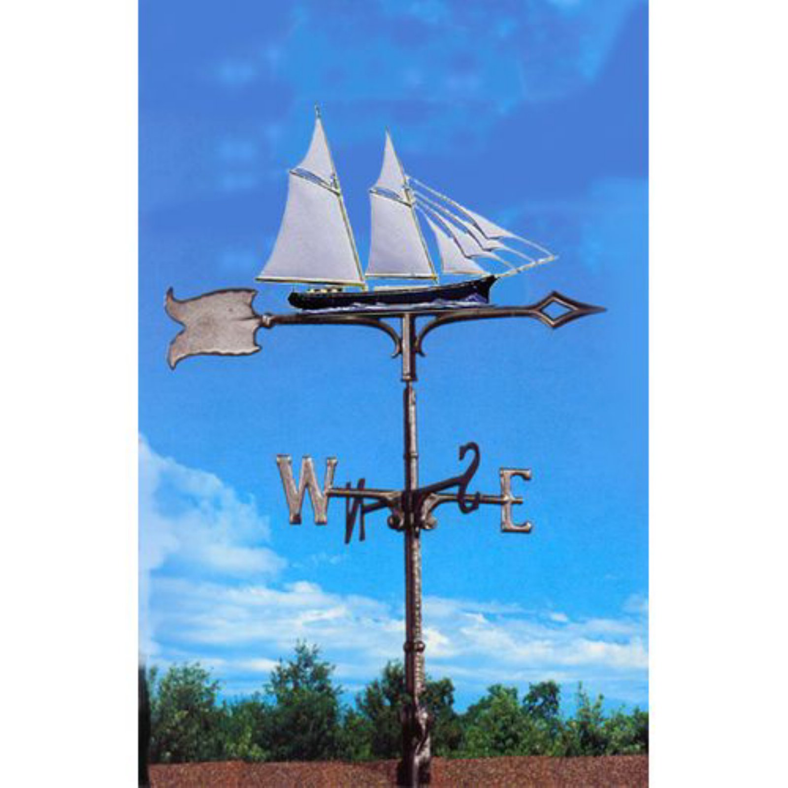Painted Schooner Weathervane by Whitehall Products LLC