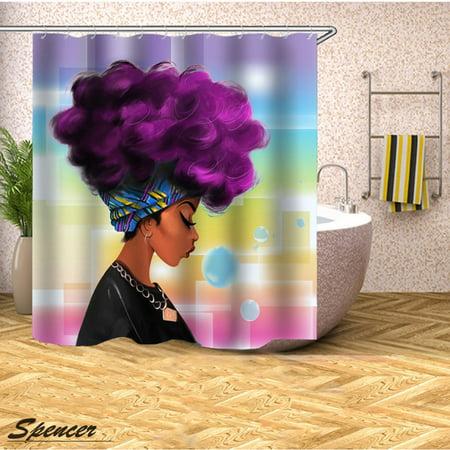 Spencer Slang Cowboy Starfish Pattern Waterproof Fabric Shower Curtain, Standard 71