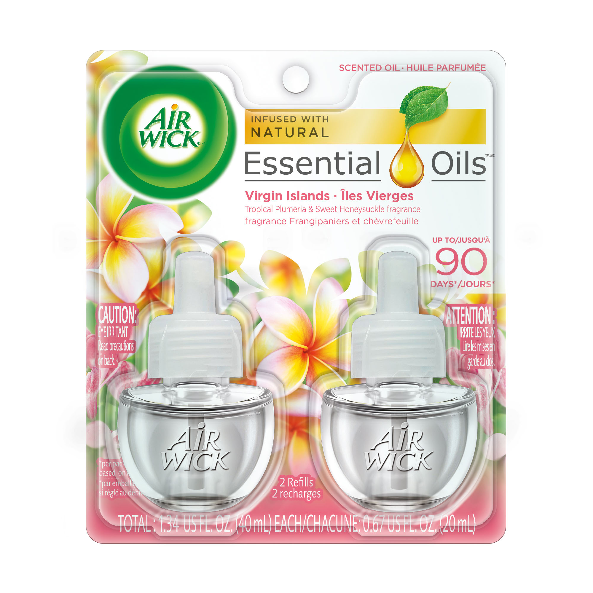 Air Wick Scented Oil 2 Refills, Virgin Islands, (2X0.67oz), Air Freshener