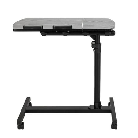 Four-Wheel Multifunctional Flat Surface Lifting Computer Desk Movable Bedroom Bedside Laptop Table Sofa Bed Side End Desk ()