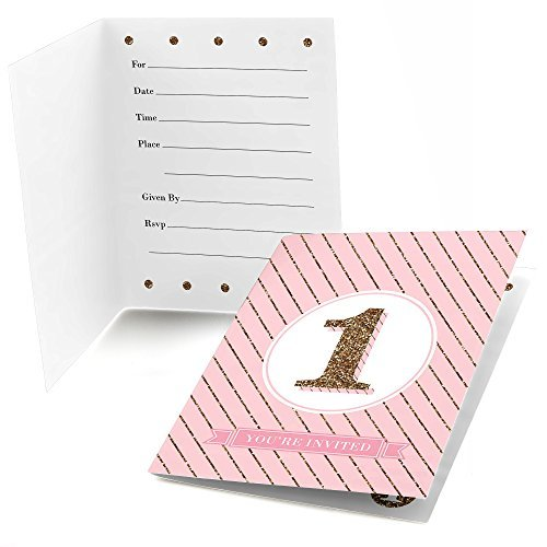 1st Birthday Girl - Fun to be One - Fill In Birthday Party Invitations - Set of 24