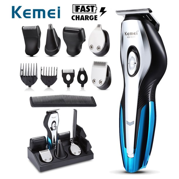 Hair Clippers For Men Kemei 11 In 1 Hair Cutting Kit Cordless Hair Clippers Beard Shaver Trimmer Grooming Kit With Stand Base Body Trimmer For Beard Nose Ear Eyebrow Hair Walmart Com