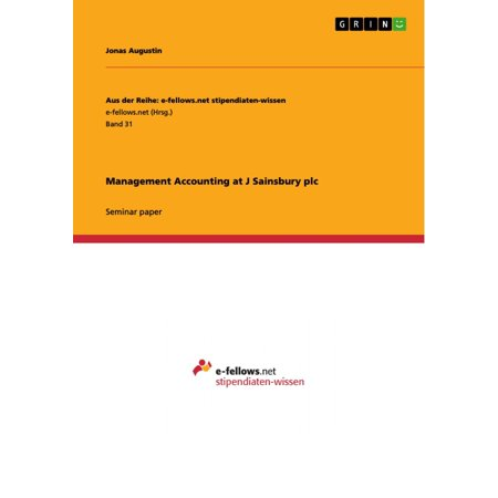 Management Accounting at J Sainsbury plc - eBook