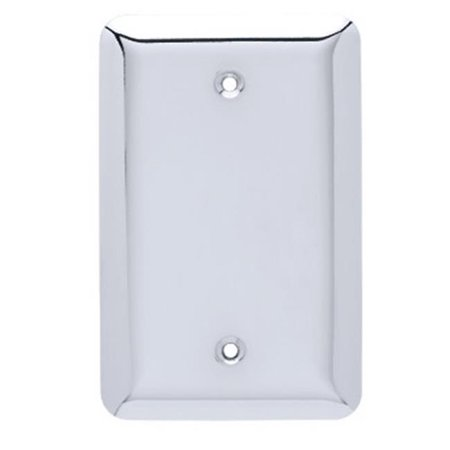 Stamped Round Single Blank Wall Plate, Chrome (Chrome Plated Single)