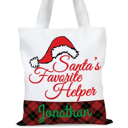 Personalized Santas Helper Tote Bag, Sizes 11