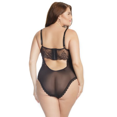 3c872d9a51510 Coquette - Coquette Plus Size Let s Play Tie-Up Crotchless Teddy -  Walmart.com