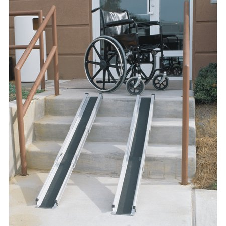 DMI Telescoping Wheelchair Ramp for Home, Portable and Lightweight Wheelchair Ramp for Handicap, Retractable Wheelchair Ramps for Steps, Adjustable from 3' to 5' (Adjustable Wheelchair Ramps)