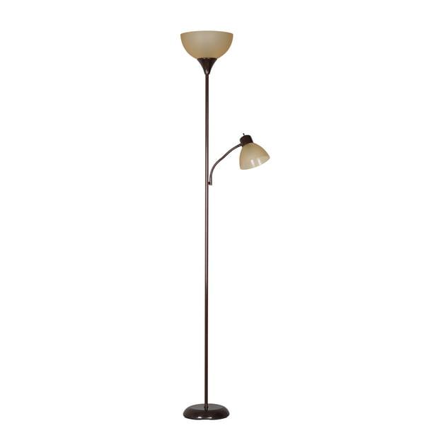 Mainstays 72 Combo Floor Lamp With, Brown Floor Lamp