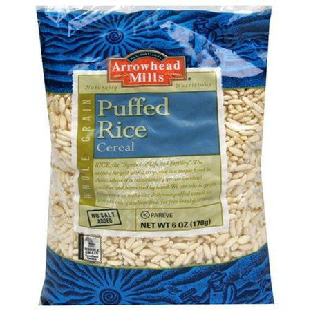Arrowhead Mills Puffed Rice Cereal, 6 Ounce (Pack of 12)