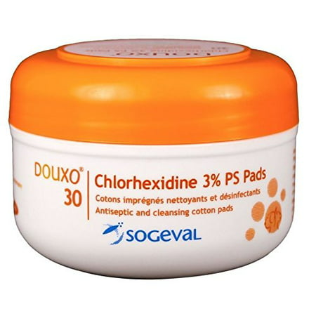 Chlorhexidine 3  Ps Pads 30 Ct   These Medicated Pads Provide Unparalleled Activity In Topical Management Of Pyoderma And Malassezia  By Douxo