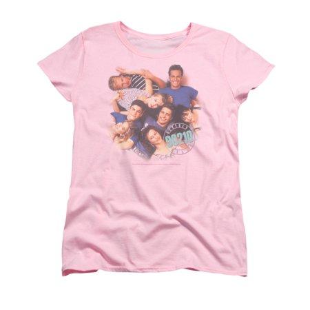 90210 Beverly Hills Cw Tv Series Gang In Logo Womens T Shirt Tee