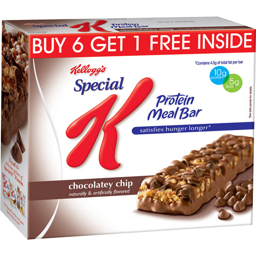 Kellogg's Special K Chocolatey Chip Protein Meal Bars, 1.59 oz, 7 count