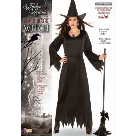 Halloween Black Magic Witch Adult Costume (Black Swan Halloween Outfit)