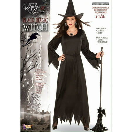Halloween Black Magic Witch Adult Costume](Adult Witches Costume)