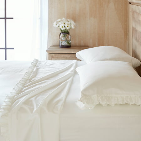 (The Pioneer Woman Solid Ruffle Sheet Set)