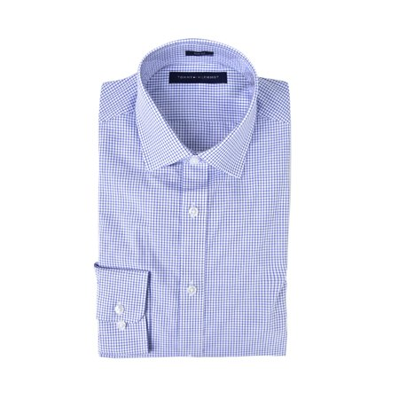 Tommy Hilfiger Men's Dress Shirts Non Iron Slim Fit Solid Spread - Tommy Hilfiger Collared