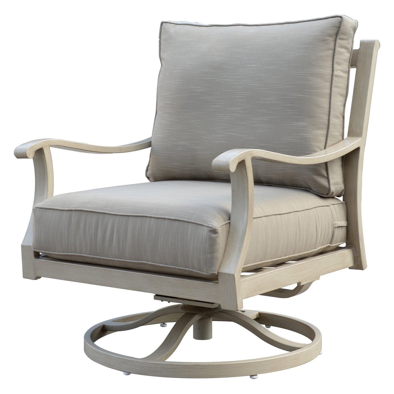 Camel Torino Aluminum Outdoor Swivel Glider Club Chair