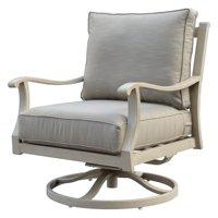Courtyard Casual Camel Torino Aluminum Outdoor Swivel Glider Club Chair