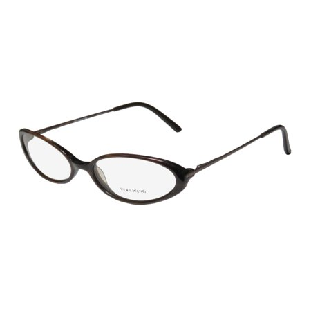 New Vera Wang Curve Womens/Ladies Cat Eye Full-Rim Brown Hip & Chic Rare Cat Eye Made In Japan Frame Demo Lenses 52-16-125 Flexible Hinges Eyeglasses/Eyeglass Frame Cat Eye Frame