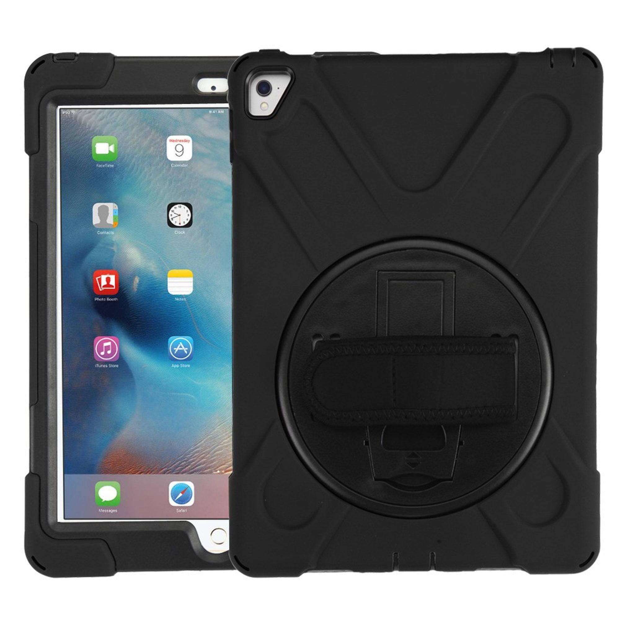 "MyBat Rotatable Stand Hard Dual Layer Plastic TPU Case w/stand For Apple iPad Pro 9.7"" - Black"